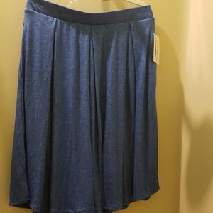 Lularoe Madison skirt blue L
